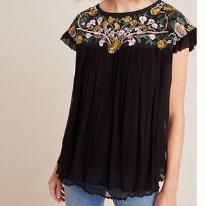 Anthropologie SWK Bethany Embroidered Blouse Small